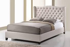 Amazon Baxton Studio Norwich Linen Modern Platform Bed King