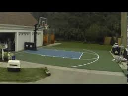 how to build a sport court basketball court