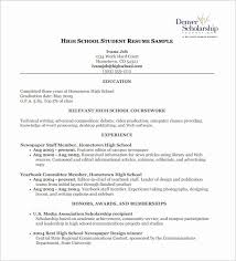High School Student Resume Objective Pleasant Food Delivery Teen Cv Examples For