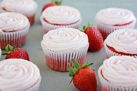 cake mix strawberry cupcakes
