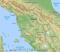 Map Of Tuscany Italy Plus Blank Physical Geography Road Region 748