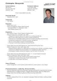 Current College Student Resume Sample