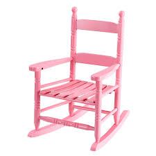 GHP 80-Lbs Capacity Pink Wooden Hand Crafted Classic Kids Slat Back Rocking  Chair - Walmart.com