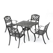 Augusta Outdoor 5-Piece Cast Aluminum Dining Set, Shiny Copper Finish Zuo Mayakoba White Stationary Alinum Outdoor Ding Chair 2pack Best Patio Fniture And Metal Garden Table Folding Lofty Clearance Epic Wrought Iron Sets Chair Lisa White Breeze Ding Chair Shiaril 5 Pc And Navy Set Setting Chairs Wicker Room Resin Modern Cushions Of 20 High Gloss By Andre Putman For Emeco Mamagreen Sr Hughes Grace 6 Seater Warehouse