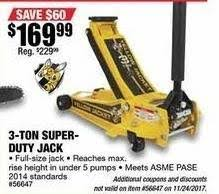 Northern Tool 3 Ton Floor Jack by Northern Tool And Equipment Black Friday Yellow Jacket Low