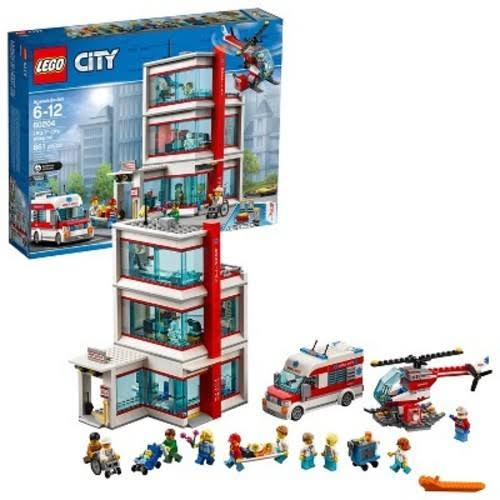 Lego City Hospital Building Kit - 861pc
