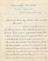 MHS Collections line Letter from John A Andrew to Francis Shaw