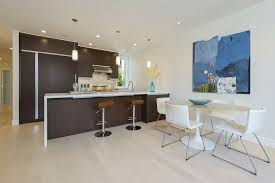 dark cabinets light floors kitchen contemporary with white counter
