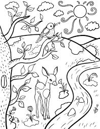 Printable Spring Coloring Sheet