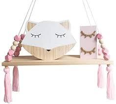 mallalah wandregal für kinder motiv prinzessin dekorativer stil hängend holz tassel perle kommode für mädchen schlafzimmer