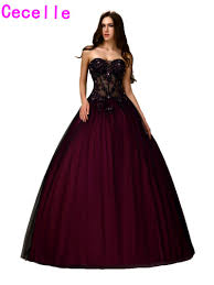 online get cheap burgundy and black prom dresses backless