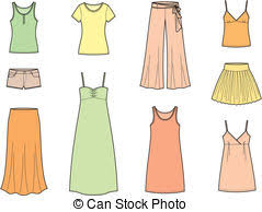 Summer Clothes Stock Illustrations 20437 Clip Art