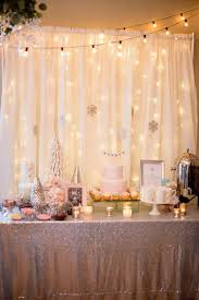 Winter Wonderland Party Table From A ONEderland First Birthday On Karas Ideas