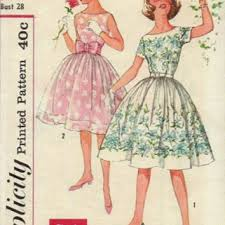 Retro Rockabilly Swing Dress 50s Simplicity Sewing Pattern Girls Circle Skirt Fit Flare Party