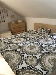 komplettes ikea schlafzimmer in buche mit pax kleiderschränken