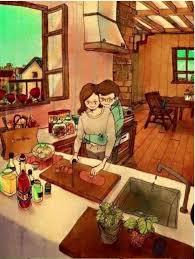 le bonheur dans la cuisine 9 illustrations qui résument à la perfection le bonheur dans un