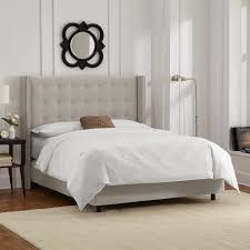 Roma Tufted Wingback Headboard Dimensions by Classic Wingback Bed Design And Color Derektime Design