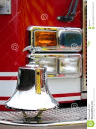 100 Fire Truck Bell Gleaming Eagle Symbol Above The Brigade Stock Photo