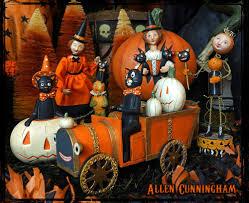 Lori Mitchell Halloween Sale by Allen Cunningham Halloween Folk Art Figures Traditions