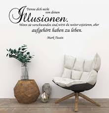 wandtattoo wohnzimmer spruch zitat v trenne dich nicht deinen illusionen