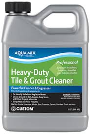aqua mix皰 heavy duty tile grout cleaner custom building products