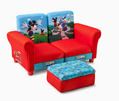 52 Mickey Mouse Sofa Chair Disney Adirondack With Black Finish And Red Seat