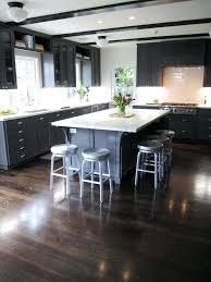 Dark Cabinets Floors Gray Kitchen Wood Beautiful Best With