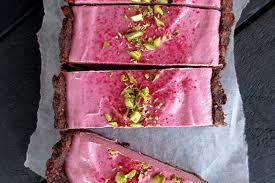 no bake raspberry chocolate tart vegan gluten free fruit