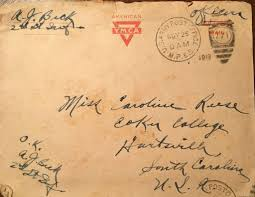 Scan Of US Army Mail From Augustus Jerome Beck 1918