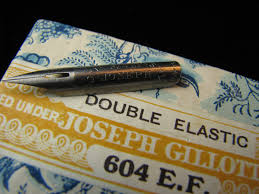 Blue Pumpkin Nib by Collectible Joseph Gillott U0027s Double Elastic 604 Ef Dream Points