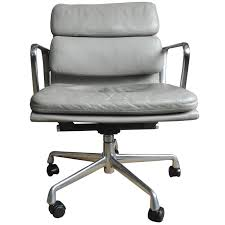 Herman Miller Eames Soft Pad Executive Chair by Eames Soft Pad Chair In Light Gray Leather On Wheels For Herman