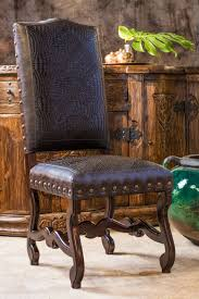 Blevins Leather Dining Chair | Tuscan Decorating, Leather ...