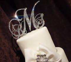 Cheap Wedding Decorations Online by Monogram Wedding Cake Toppers Cheap Wedding Corners
