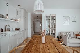 küche und esszimmer weiß und naturholz wgundwohnung