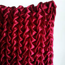 Red Decorative Pillows by Best Smocked Pillows Products On Wanelo