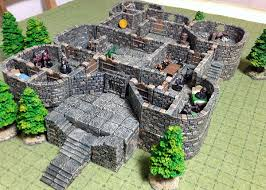 Dungeons And Dragons Tiles Sets by Cragmore Castle Using Dwarven Forge Game Tiles 5e Starter Set