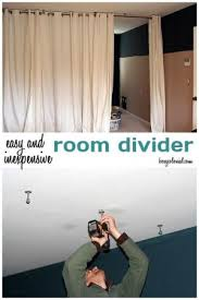 Hanging Curtain Room Divider Ikea by Make This Room Divider From Ikea Curtain Panels And A Ceiling