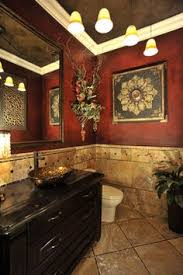 Tuscan Decorating Ideas For Bathroom by Image Result For Bathroom Gray Marble Tile With Red Accent Walls