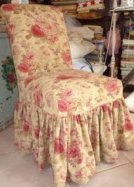 Shabby Chic Dining Room Chair Covers by Parsons Chair Slipcovers Shabby Chic