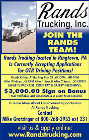 100 Yellow Trucking Jobs Join The Rands Team Rands Inc