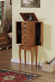 25 Beautiful Oak Wood Jewelry Armoires   Zen Merchandiser Jewelry Armoires Bedroom Fniture Etown Amish Powell Armoire Burnished Oak With 6 Four Seasons Furningsamish Made Made Photo Jewelry Armoire Abolishrmcom Design Plus Gallery Awesome New View Wall Mirrors Oxford Mount With Mirror In Sale 28500 Classic Coaster Co Cabinets Sears Mounted Full Length For