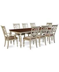 windward 9 pc dining set dining table 6 side chairs 2 arm