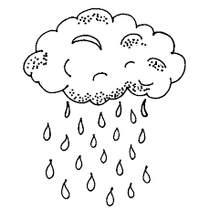 Rain And Umbrella Coloring Pages For Kids To Print Free