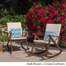 100 Gus Rocking Chair Outdoor Wood Set Of 2 By Christopher Knight Home