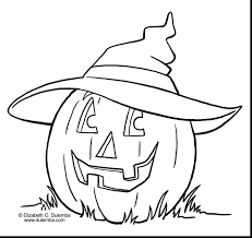 Excellent Halloween Pumpkin Coloring Pages With Scary And