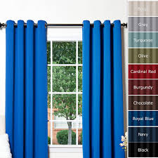 decoration blue blackout light blocking curtains decor for your