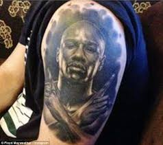 Another Fan Shows Off His Tattoo Of Money Mayweather The Retired Fighter Uploaded
