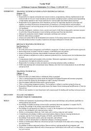 Download Training Technician Resume Sample As Image File