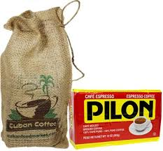 Pilon Cuban Coffee 10 Oz In A Decorated Burlap Bag