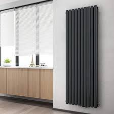 heilmetz design paneelheizkörper 1800 x 600 mm doppellagig anthrazit oval röhren heizkörper mittelanschluss vertikal wohnzimmer badezimmer heizkörper